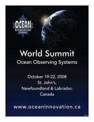 World Summit - Ocean Innovation 2013