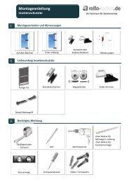 Montageanleitung Insektenschutz Tür herunterladen - rollo-laden