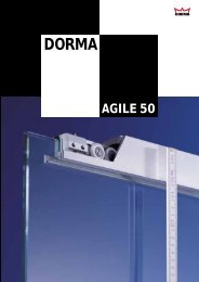 Sliding Door Systems AGILE 50 - Glas Sieben