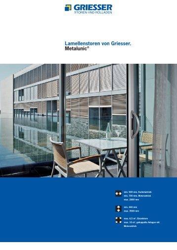 Metalunic Prospekt - H. LUCHSINGER AG