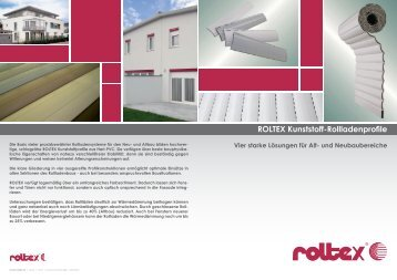 Prospekt Kunststoff-Rollladenprofile