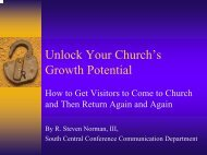Unlock Your Church's Growth Potential - South Central Conference