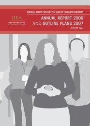 annual report 2006 and outline plans 2007 - Higher Education ...