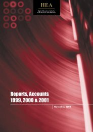 Reports, Accounts 1999, 2000 and 2001 - Higher Education Authority