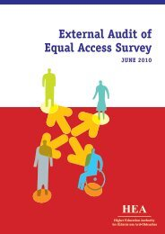 External Audit of Equal Access Survey - Higher Education Authority