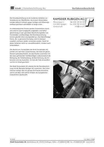 kindt | Pulverbeschichtung Alu Verfahrensbeschrieb - Klinso