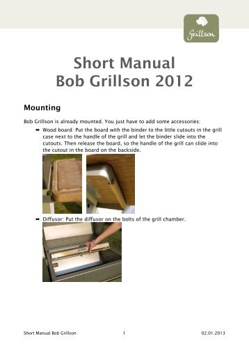 2012 Bob Grillson Manual EN