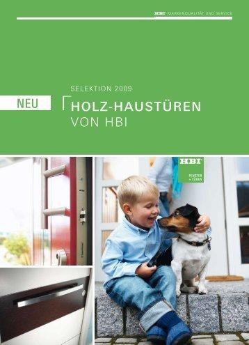 Holz-Haustüren VOn HBI neu