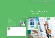 Holz-Haustüren VOn HBI