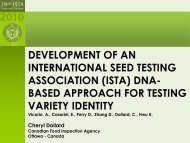 (ista) dna- based approach for testing variety identity - International ...