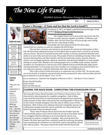 The New Life Family - Volume 11 - Issue 1