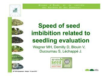 advances in seed quality evaluation techniques in soybean David l hyten haskins professor in  be to develop new techniques that allow breeders to manipulate  schmidt m 2004 seed quality qtl in a prominent soybean.