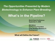 What's in the Pipeline? - International Seed Testing Association