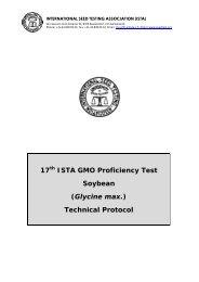 Technical Protocol - International Seed Testing Association
