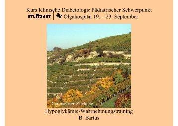 Hypoglykämie-Wahrnehmungstraining - Index of