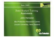 Seed Analyst Training Australasia - International Seed Testing ...