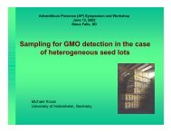 Sampling for GMO detection in the case of heterogeneous seed lots