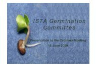 Report from the Germination Committee - International Seed Testing ...