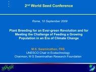 Key Note Speech - International Seed Testing Association