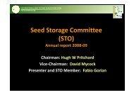 Seed Storage Committee (STO) - International Seed Testing ...
