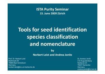 Species Classification and Nomenclature