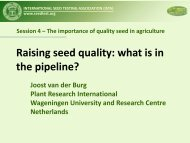 Raising seed quality - International Seed Testing Association