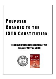 proposed changes to the ista constitution - International Seed ...