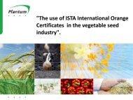 Titel presentatie - International Seed Testing Association