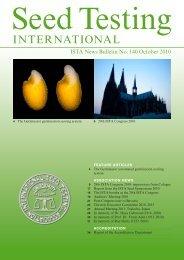 (ISTA News Bulletin) No. 140, October 2010 - International Seed ...
