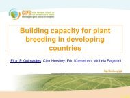 Building capacity for plant breeding in developing countries