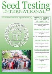 No. 130, October 2005 - International Seed Testing Association