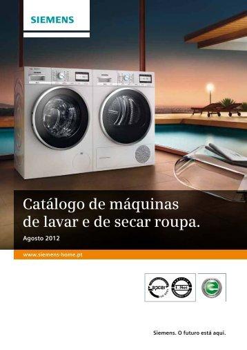 Catálogo de máquinas de lavar e de secar roupa. - Siemens