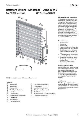 Raffstore 80 mm - windstabil – ARO 80 WS