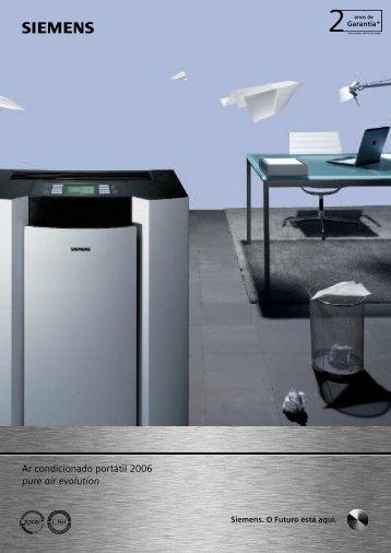 Ar condicionado portátil 2006 pure air evolution - Siemens Home ...