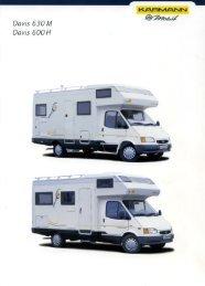 Prospekt Davis 600H - 630M - bei Karmann Mobil