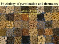 Physiology of germination and dormancy