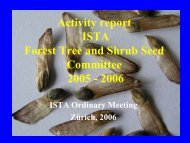 Presentation of the Forest Tree and Shrub Seed Committee