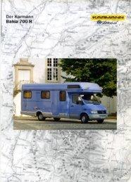 Prospekt Mercedes Bahia 700 H - bei Karmann Mobil