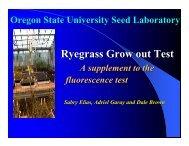 Ryegrass Grow out Test - International Seed Testing Association