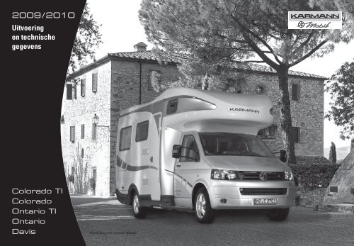 2009 / 2010 Uitvoering en technische gegevens - bei Karmann Mobil
