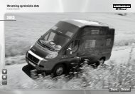 Utrustning og tekniske data - bei Karmann Mobil