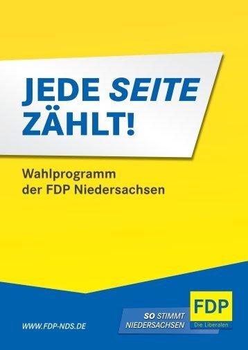 finden Sie das Landtags- wahlprogramm der FDP