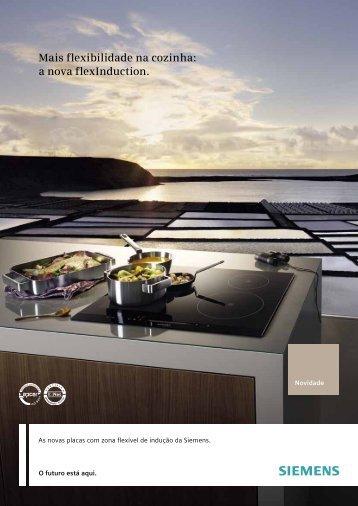Mais flexibilidade na cozinha: a nova flexInduction. - Siemens