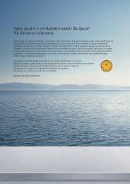 Sabe qual é o verdadeiro sabor da água? Na Siemens sabemos.
