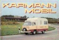 Prospekt Volkswagen T2 1976 - bei Karmann Mobil