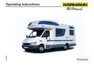 Operating Instructions Ontario - bei Karmann Mobil