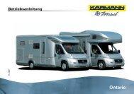 Betriebsanleitung Ontario deutsch - bei Karmann Mobil