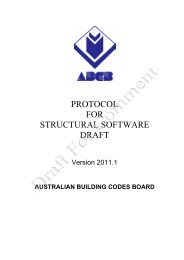 Structural Software Protocol - Australian Building Codes Board