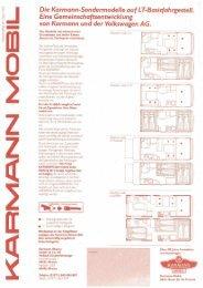 Preisliste LT-Basisfahrgestell - bei Karmann Mobil