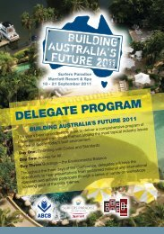 DELEGATE PROGRAM - Australian Building Codes Board